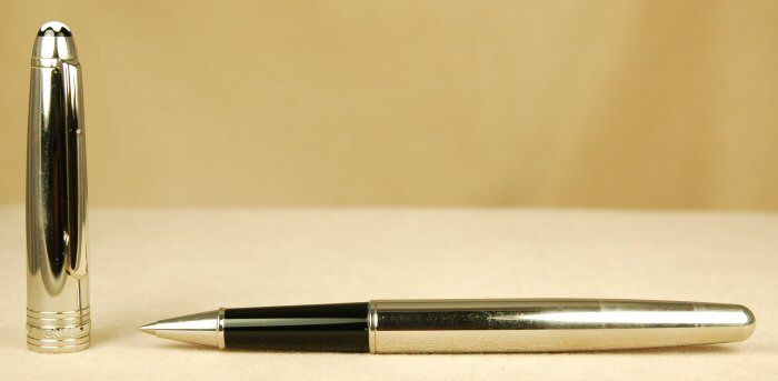 Pre-Owned Pens: 0368: Mont Blanc: Stainless Steel Solitaire