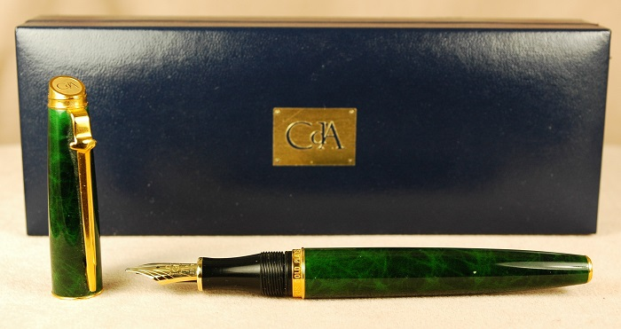 Pre-Owned Pens: 1793: Caran d'Ache: G (Marbled Green)