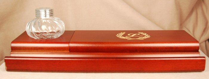 Inkwells and Blotters: IB0014: Laban: Inkwell & Pen Holder