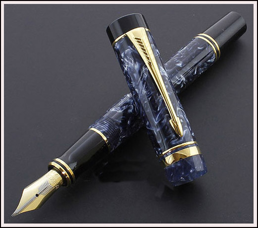 Pre-Owned Pens: : Parker: International Duofold, Blue Marbled