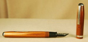 We sell more vintage Esterbrook pens than any other brand. These copper-colored Esterbrooks are my personal favorite of the options available, but our most popular colors are blue, grey and black.