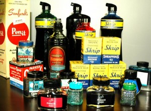 "This is just an ""inkling"" of ThePenMarket.com's private collection of vintage and modern fountain pen ink. It includes Sanford ink, Sheaffer towers of ink, Carter's ink and Parker V-mail ink from WWII!"