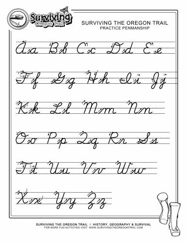 Cursive Writing Alphabet Worksheets - Davezan