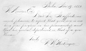 Spencerian script might well be the most ornate form of writing in the English language. Its popularity peaked in the 19th century but was used through well into the 20th century. Some people still practice it for artistic endeavors.