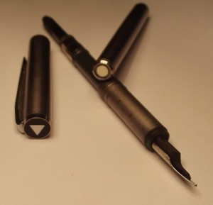 For a brief period in the 1970s, Mont Blanc changed its logo in the Saudi Arabian market to a white triangle, as seen in this photo of a Noblesse.