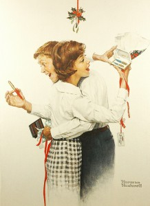 With their passion for Parker overriding their desire to kiss under the mistletoe, clearly painter Norman Rockwell understood the obsession of pen collectors around the world. Happy Holidays!