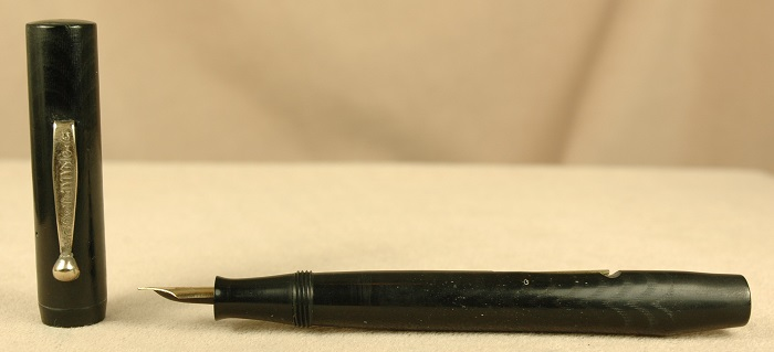 Vintage Pens: 2341: J. Harris & Co.: Black Chased Hard Rubber Fountain Pen