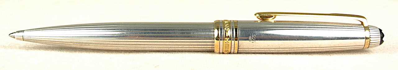 Pre-Owned Pens: 3129: Mont Blanc: Sterling Silver Solitaire Pinstripe