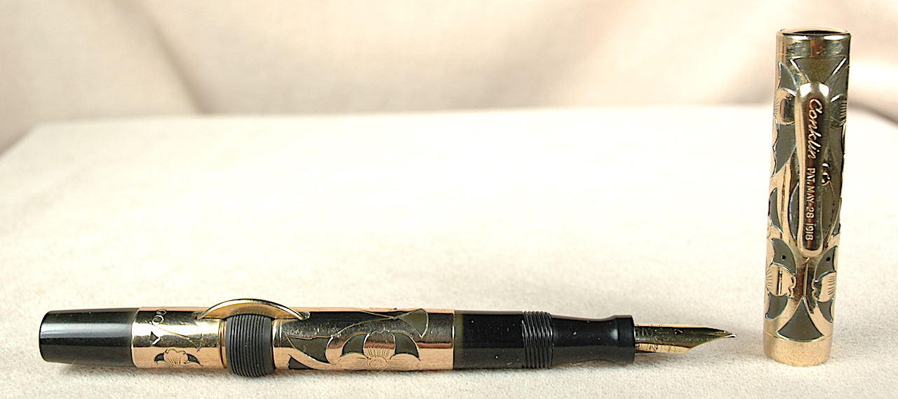 Vintage Pens: 3969: Conklin: #2 Gold Filled Filigree