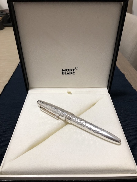 Pens and Pencils: : Mont Blanc: Mont blanc Meisterstück Solitaire Martelé Sterling LeGrand Fountain Pen