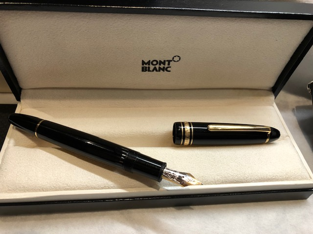 Vintage Pens: : Mont Blanc: Le grand Fountain Pen with inkwell