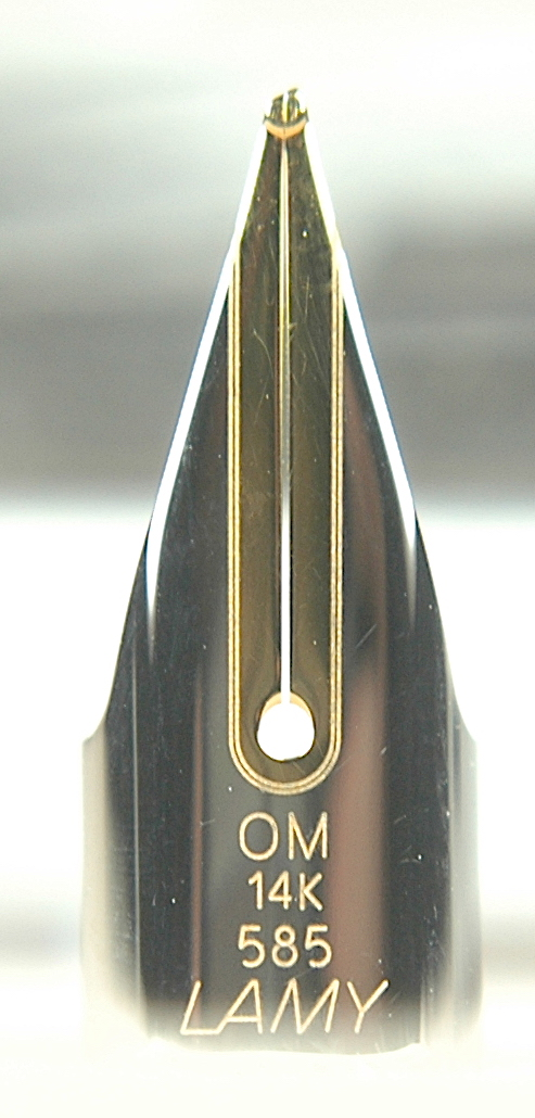 Pre-Owned Pens: 14k OM: Lamy: 14k Gold Oblique Medium Nib