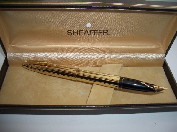 Pens and Pencils: : Sheaffer: Sheaffer Imperial 797 GP Gold Fountain Pen 14K gold Nib **Unused**