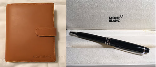 Pens and Pencils: : Mont Blanc: Meisterstuck Platinum Ballpoint Plus Small Organizer