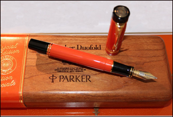 Pre-Owned Pens: : Parker: Centennial, Orange Special Edition