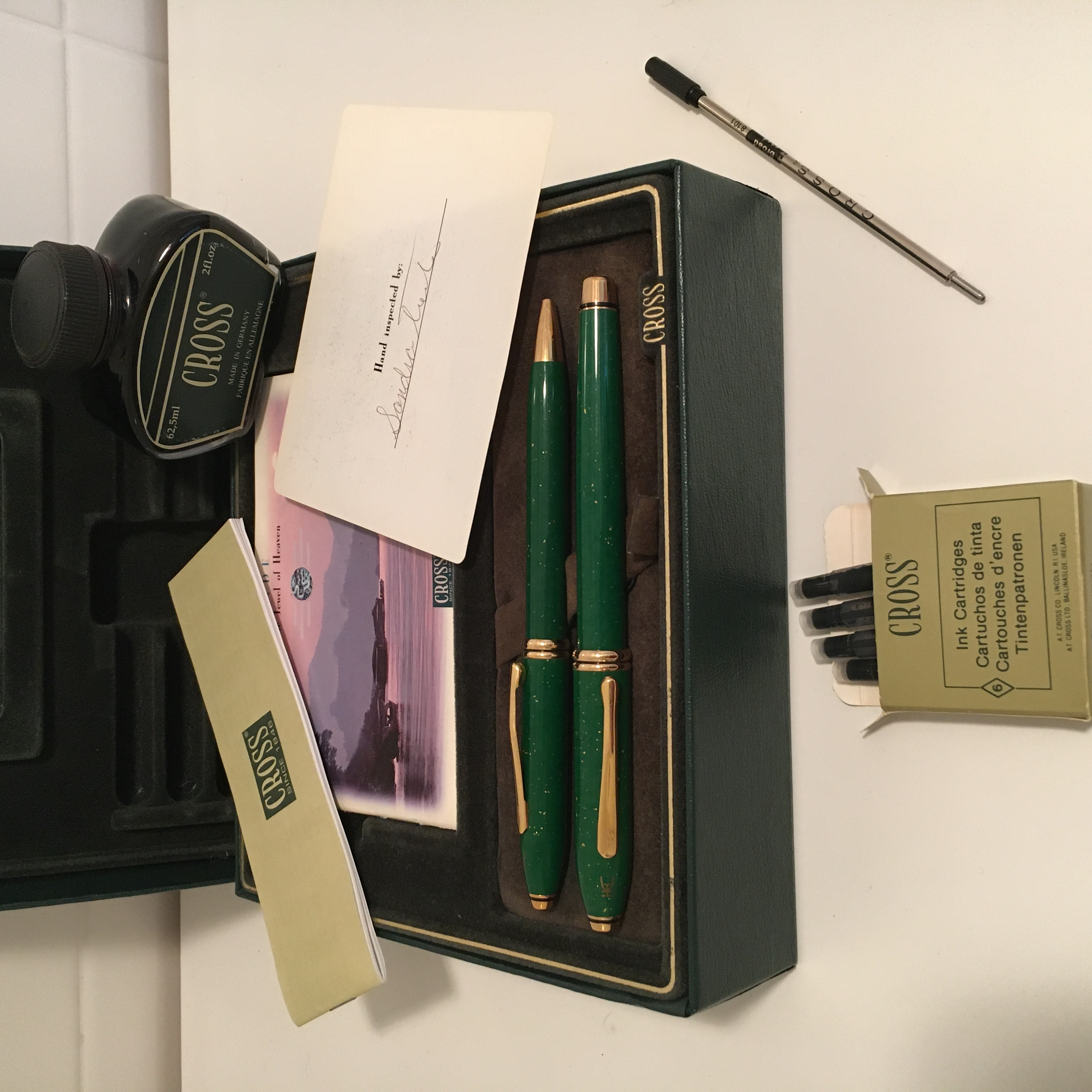 Pens and Pencils: : Cross: Limited Edition Townsend Fountain and Ballpoint set