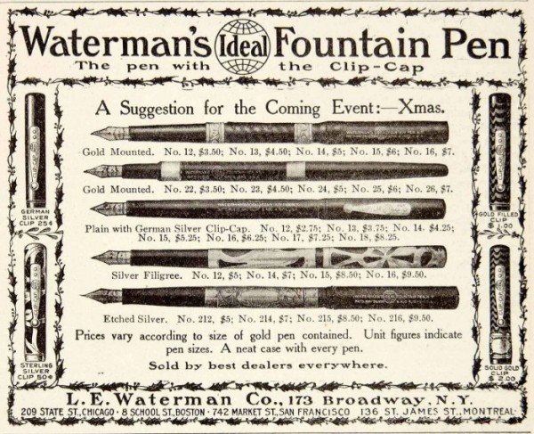 Vintage pen ads tell us so much. They help us catalog what a company once offered, introduce us to new pens we want to collect and provide insights to the culture and economics of the past.