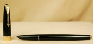 Sleek black elegance is breath-taking in this seemingly new old stock Parker 17.