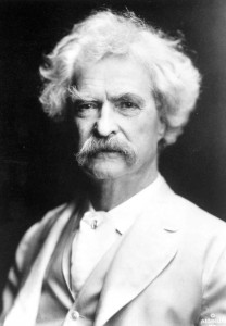 American author Samuel Clemens, who wrote under the pen name Mark Twain, was the spokesman for the Conklin Pen Company in 1903.