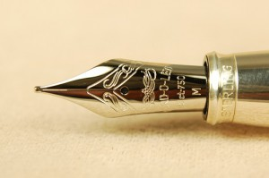 This is the incredible 18k white gold nib from the Yard-O-Led Astoria. It is one of many great NEW pens you will find on our New Pens pages, now that we are an authorized dealer for Lamy and Yard-O-Led.