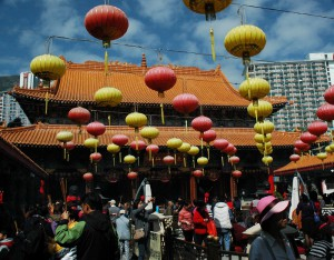 Wong Tai Sin Temple prepares for Chinese New Year's celebrations.
