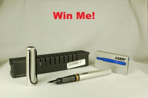 With every purchase of a pen or pencil from ThePenMarket.com between June 3 and July 4 (at 6 p.m.) you will be given a chance to win this great aluminum Lamy Al-Star and a box of ink cartridges.