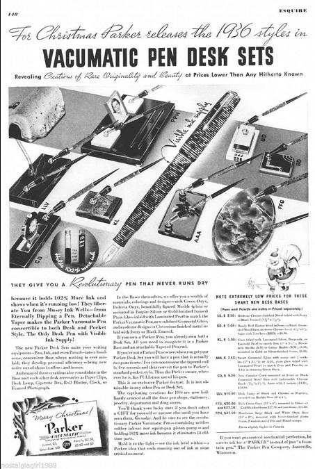 Marvelous Tag Parker Desk Sets Vintage Fountain Pens Sheaffer Interior Design Ideas Helimdqseriescom