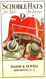 Vintage ink blotter advertising is awesome when you include guys in hats and a 1920s roadster.