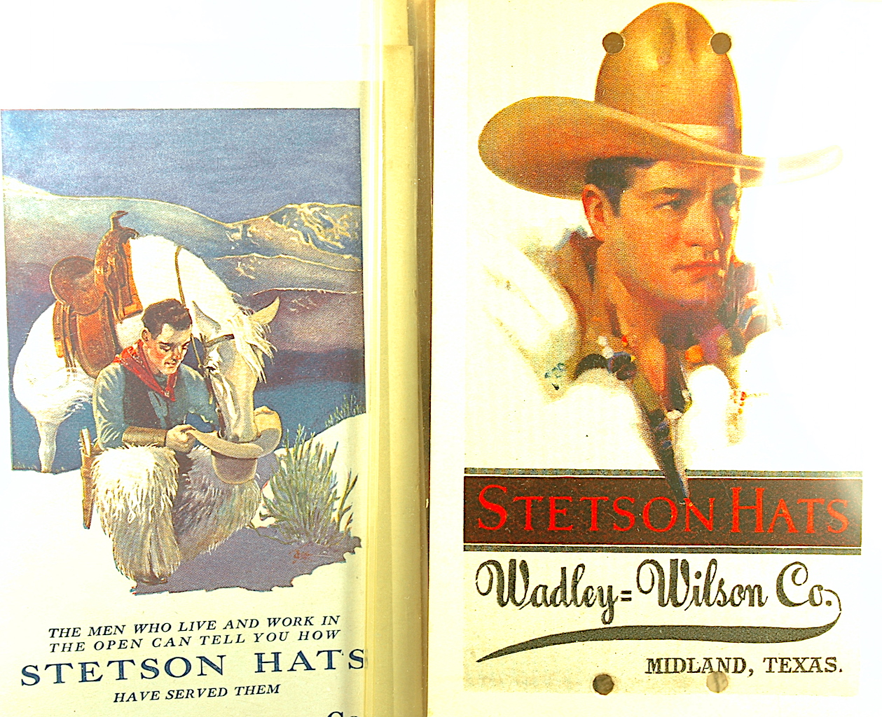 dbdc84a8fd10 Stetson was known both for its cowboy and western hats as well as its urban  fedoras. Gotta love those silent film star cowboy fashions.